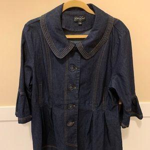 Jackets & Blazers - Eden Court dressy denim jacket.  NWOT